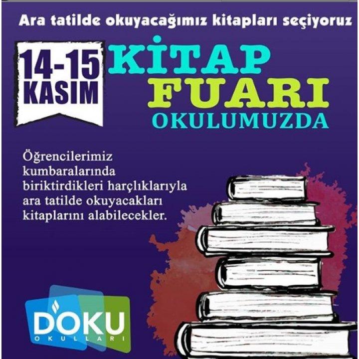 14-15 Kasım Tarihlerinde Okulumuzda Kitap Fuari Düzenlendi