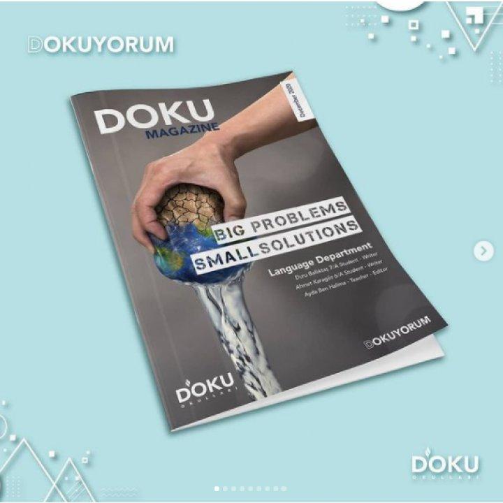 Dokuyorum Language Deparment ve Öğrencilerimizin Hazırladığı İngilizce Dergimiz Yayınlandı...