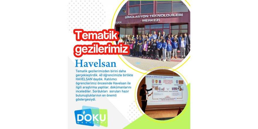 Doku Okulları Öğrencileri Havelsan'daydı.