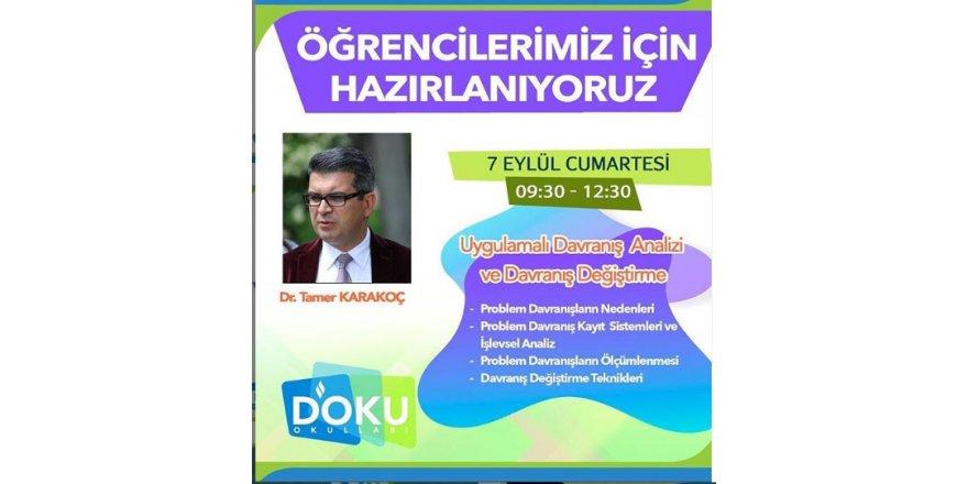 Tamer Karakoç Liderliğinde Uygulamalı Davranış Analizi ve Davranış Değiştirme Semineri Gerçekleştirildi.