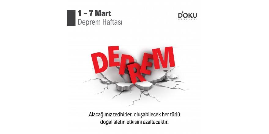 DEPREM HAFTASI 1 - 7 Mart