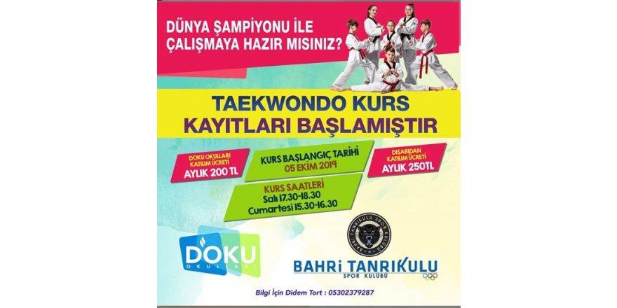 Taekwondo Kursumuz Başlamıştır