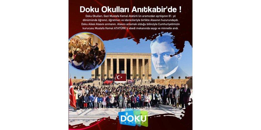 Doku Okulları Öğrencileri Anıtkabir'deydi.