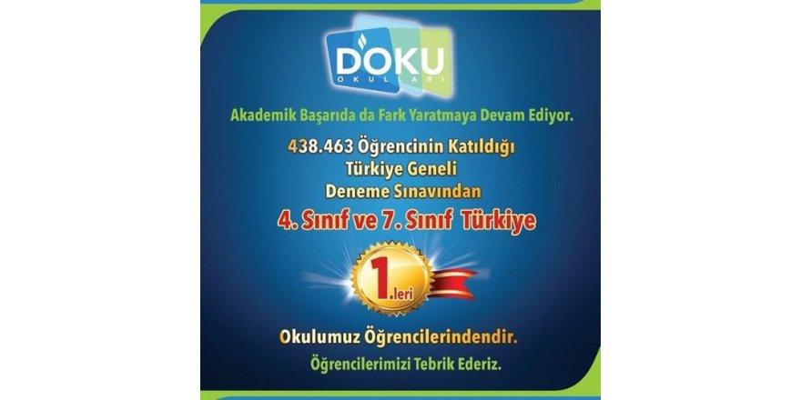 4. Sınıf ve 7. Sınıf Türkiye 1.leri Doku'da